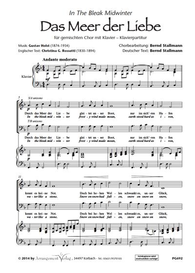 Chornoten: Das Meer der Liebe (dreistimmig)