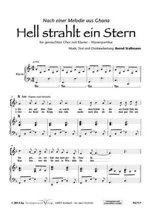 Chornoten: Hell strahlt ein Stern (dreistimmig)