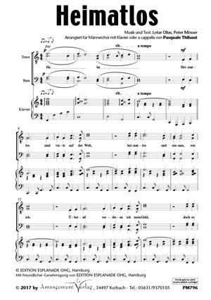 Chornoten: Heimatlos für Männerchor