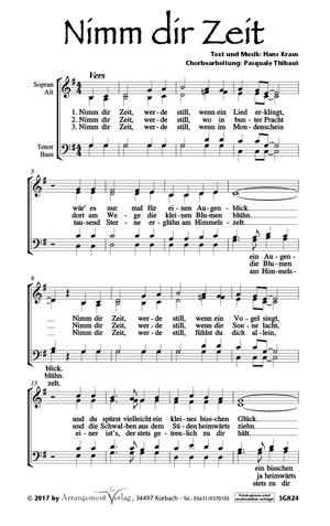 Chornoten Nimm dir Zeit