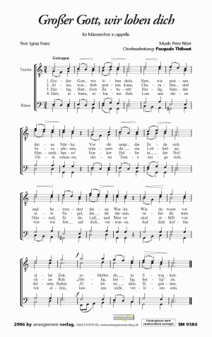 Chornoten: Großer Gott, wir loben dich für Männerchor
