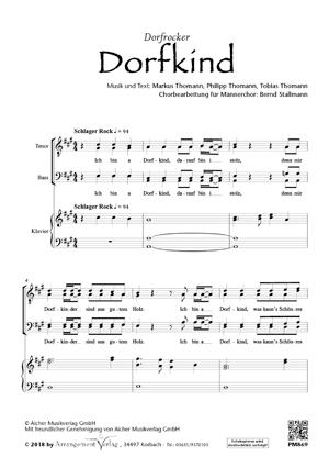 Chornoten: Dorfkind  (dreistimmig)