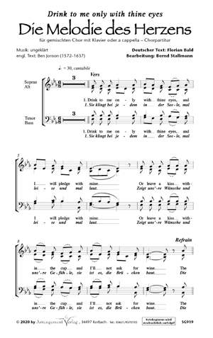 Die Melodie des Herzens (dreistimmig)
