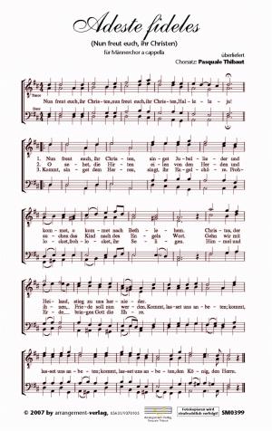 Adeste fideles für Männerchor