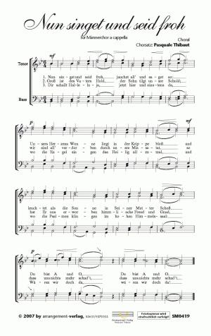 Nun singet und seid froh (vierstimmig)