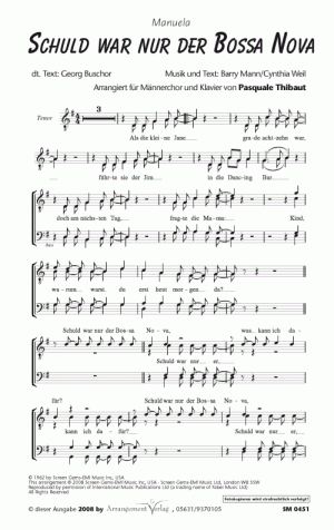 Chornoten: Schuld war nur der Bossa Nova für Männerchor