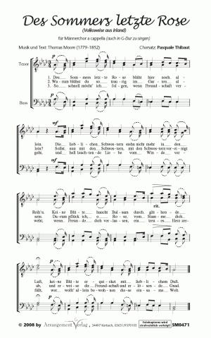 Chornoten Des Sommers letzte Rose