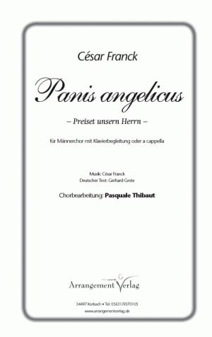 Chornoten Panis angelicus/Preiset unsern Herrn