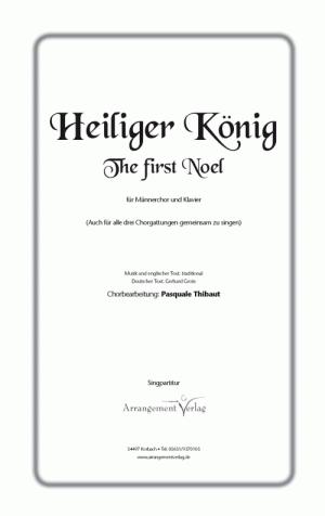 Chornoten: Heiliger König für Männerchor