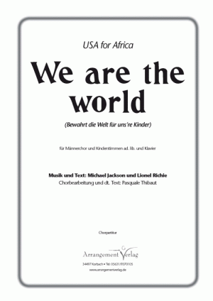 We are the world (vierstimmig)