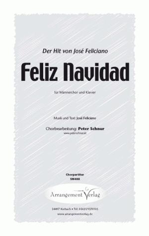 Chornoten: Feliz Navidad für Männerchor
