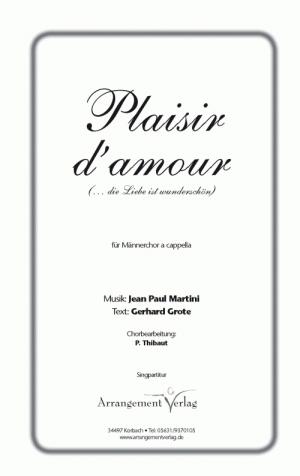 Chornoten: Plaisir d'amour (vierstimmig)
