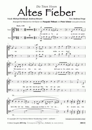 Chornoten: Altes Fieber für Männerchor