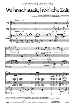 Chornoten Weihnachtszeit, fröhliche Zeit