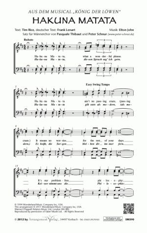 Chornoten: Hakuna Matata