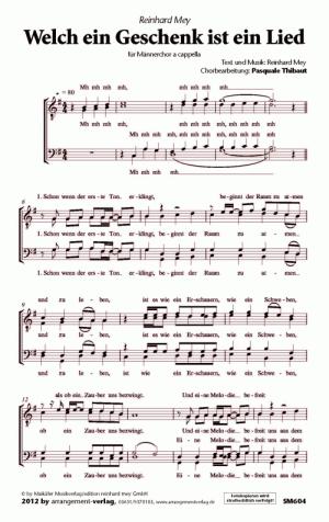 Chornoten Welch ein Geschenk ist ein Lied
