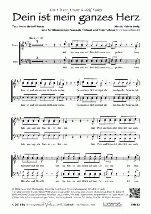 Chornoten: Dein ist mein ganzes Herz