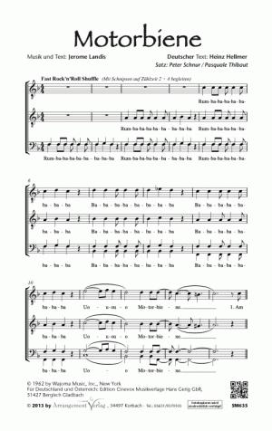 Chornoten: Motorbiene für Männerchor