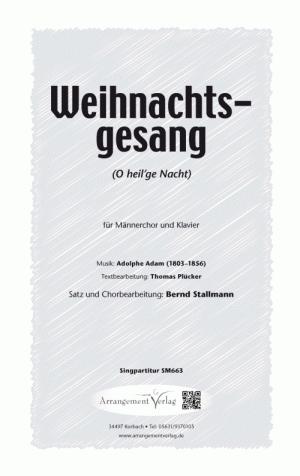 Chornoten: O heilge Nacht für Männerchor