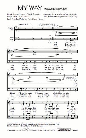 Chornoten: My Way für Männerchor