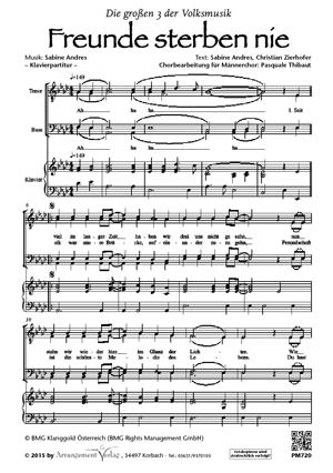Chornoten: Freunde sterben nie für Männerchor