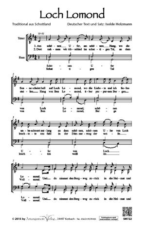 Chornoten: Loch Lomond (vierstimmig)