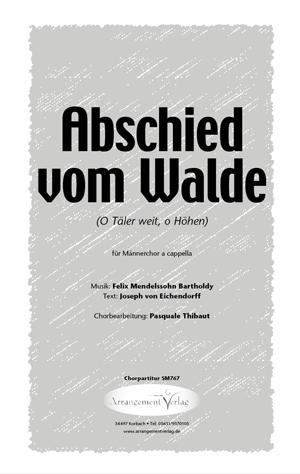 Chornoten: Abschied vom Walde (vierstimmig)