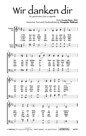 Chornoten: Wir danken dir für Männerchor