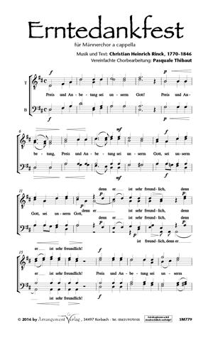 Chornoten: Erntedankfest (vierstimmig)