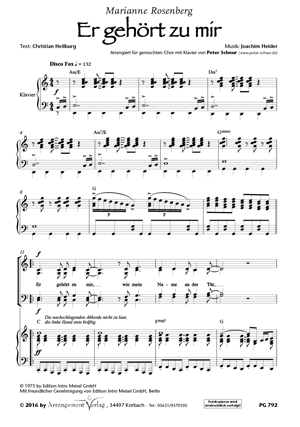 Chornoten: Er gehört zu mir für Männerchor