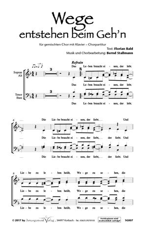 Chornoten: Wege entstehen beim Gehn für Männerchor