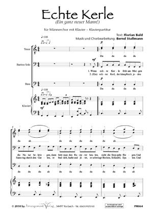 Chornoten: Echte Kerle (vierstimmig)