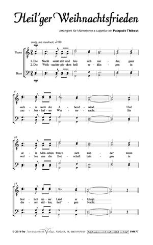 Chornoten: Heil'ger Weihnachtsfrieden (vierstimmig)