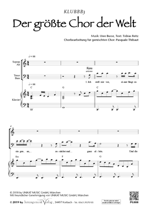 Der größte Chor der Welt (vierstimmig)