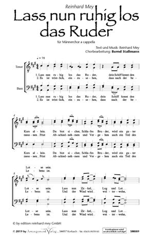 Chornoten: Lass nun ruhig los das Ruder (vierstimmig)