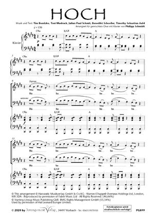 Chornoten: Hoch (vierstimmig)