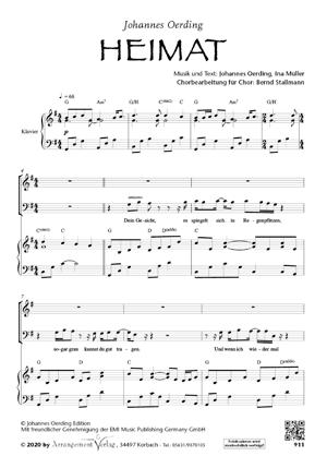 Chornoten: Heimat (Johannes Oerding) (vierstimmig)