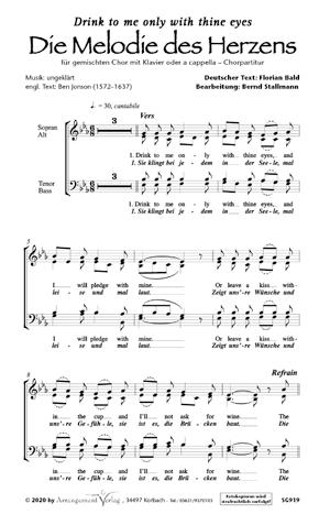 Chornoten: Die Melodie des Herzens (vierstimmig)