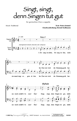 Chornoten: Singt, singt, denn Singen tut gut (vierstimmig)