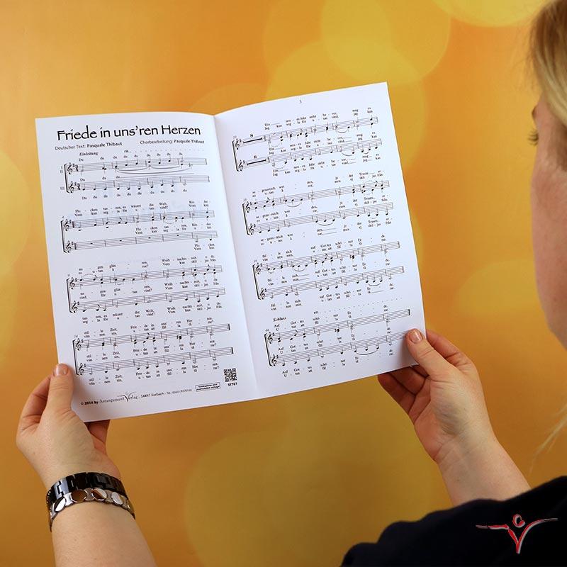 Chornoten: Friede in unsren Herzen