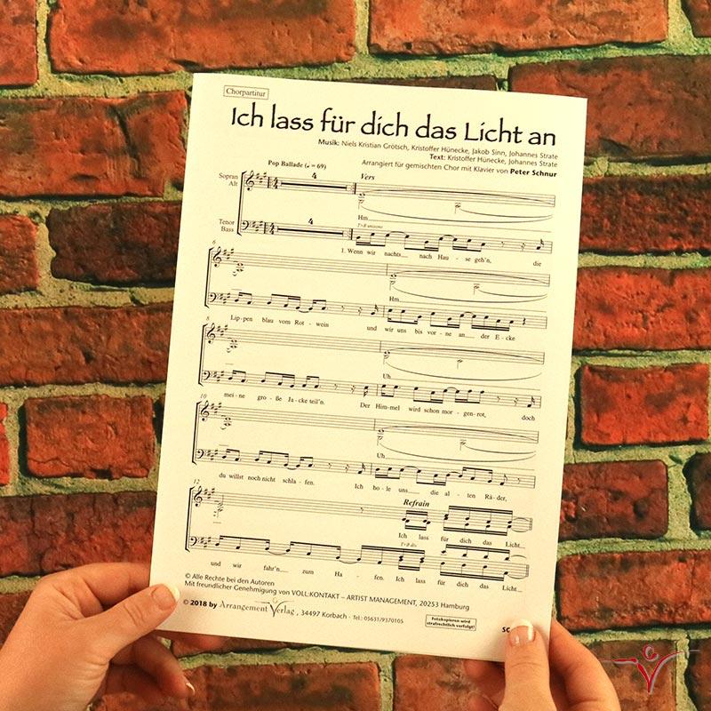 Chornoten: Ich lass für dich das Licht an