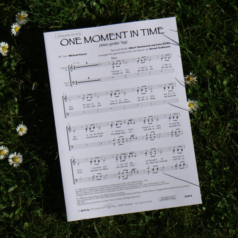 Chornoten: One moment in time / Mein großer Tag