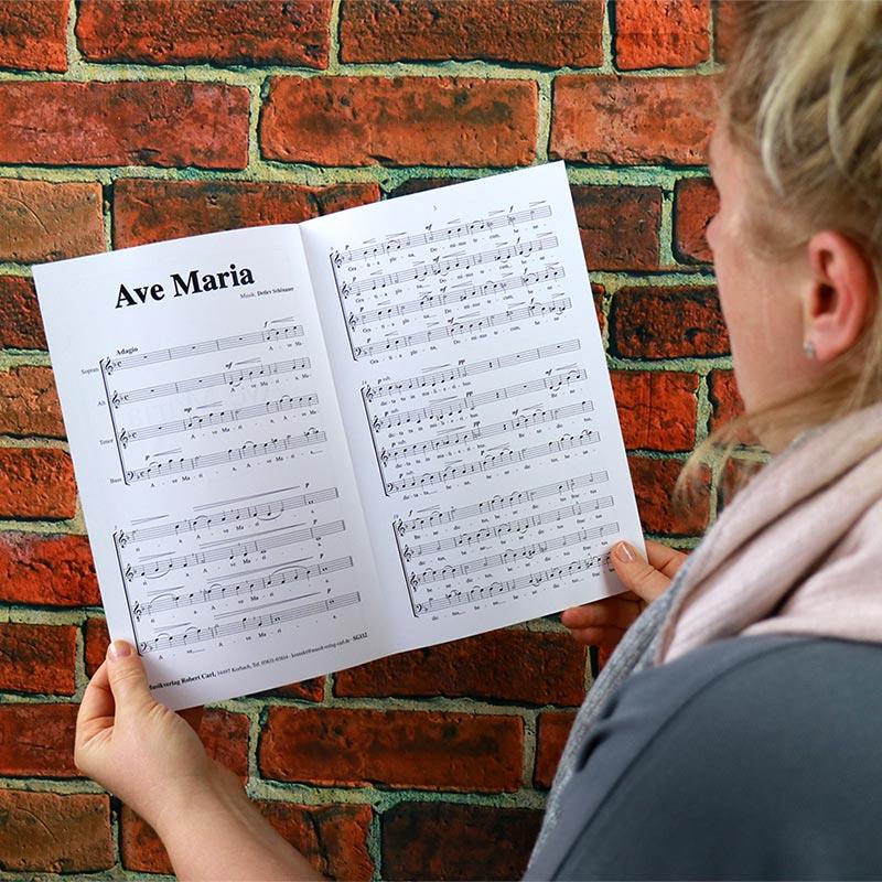 Chornoten: Ave Maria (vierstimmig)