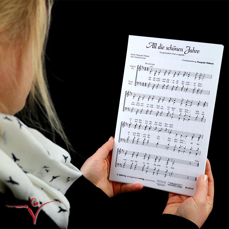 Chornoten: All die schönen Jahre (vierstimmig)
