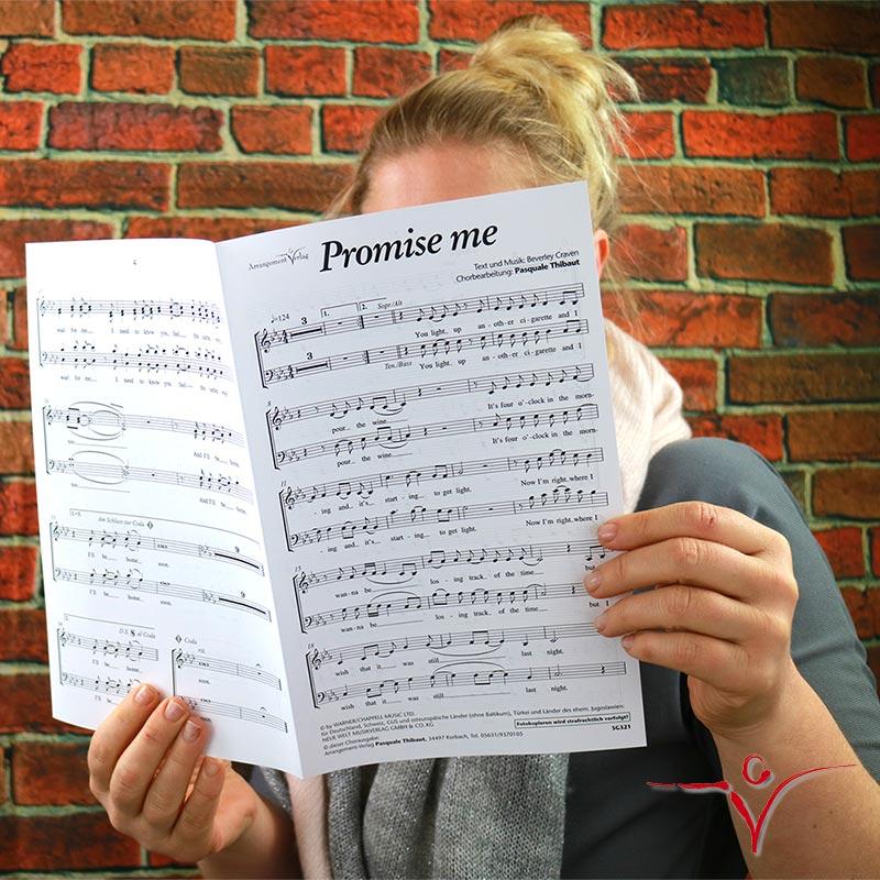 Chornoten: Promise me (vierstimmig)