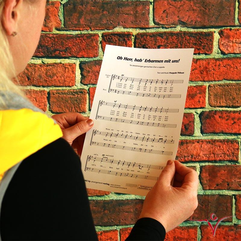 Chornoten: Oh Herr, hab Erbarmen mit uns (dreistimmig)