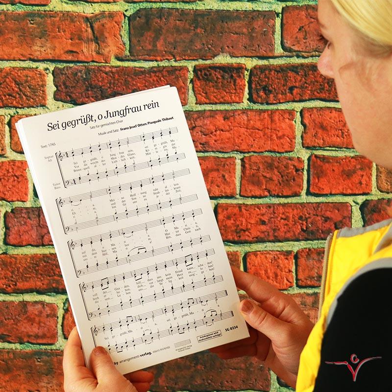Chornoten: Sei gegrüßt, o Jungfrau rein (vierstimmig)