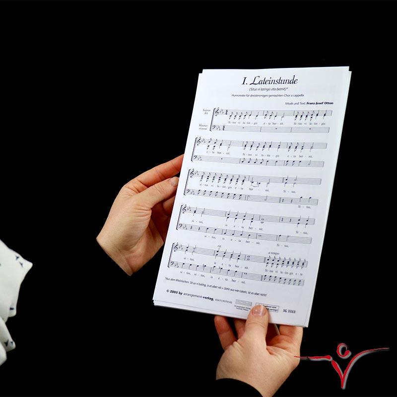 Chornoten: Lateinstunde (dreistimmig)