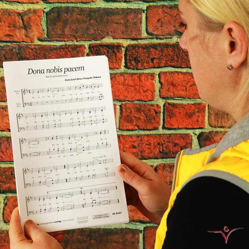 Chornoten: Dona nobis pacem (vierstimmig)