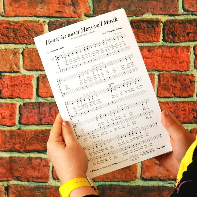 Chornoten: Heute ist unser Herz voll Musik